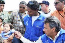 El Presidente Rafael Correa, y el Vicepresidente de la República, Lenín Moreno recorrieron hogares de personas con discapacidad