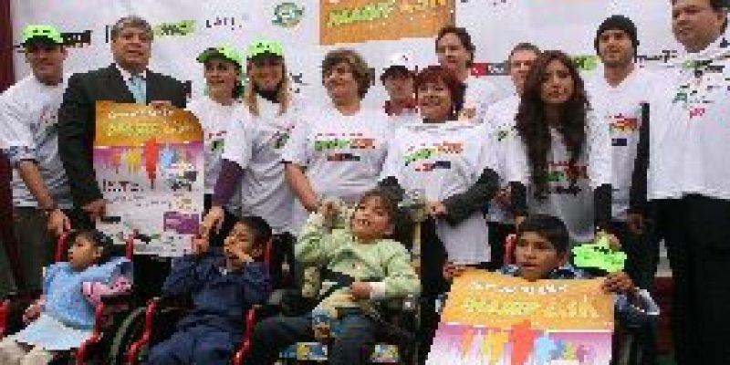 Artistas y deportistas correrán maratón por niños con discapacidad severa