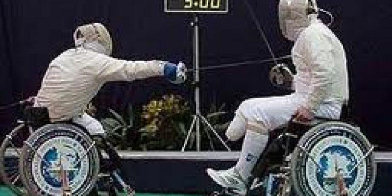 Esgrima adapatado para silla de ruedas