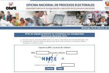 Eleciones Generales, empadronamiento de discapacitados, Onpe