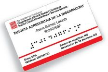 Tarjeta acreditativa de discapacidad Cataluña-España