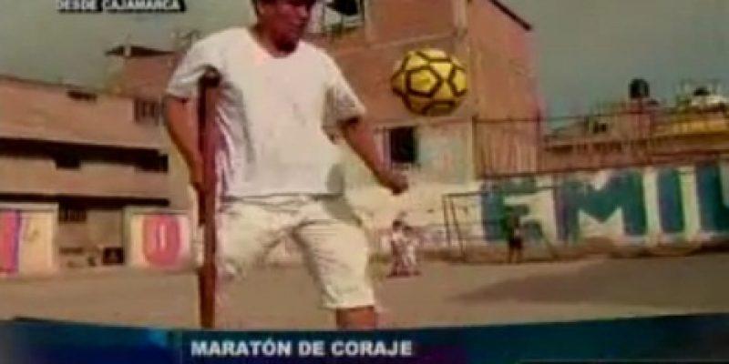 Discapacidad y superación Pablo Huaripata maratonista de una sola pierna
