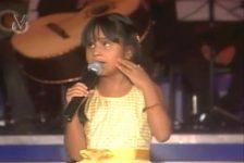 Discapacidad y superación niña cantante invidente Lucía Barboza