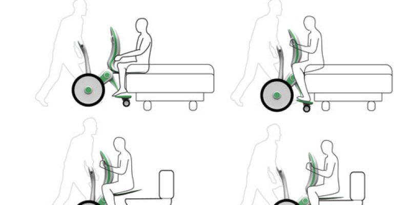 Concepto de silla de ruedas para trasladar pacientes