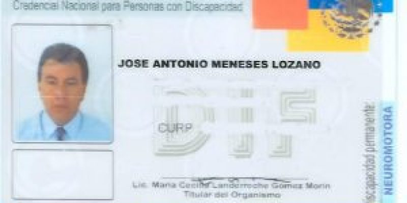Credencial discapacidad México