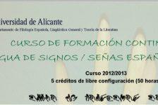Curso Lengua de Signos Española en Alicante 2013