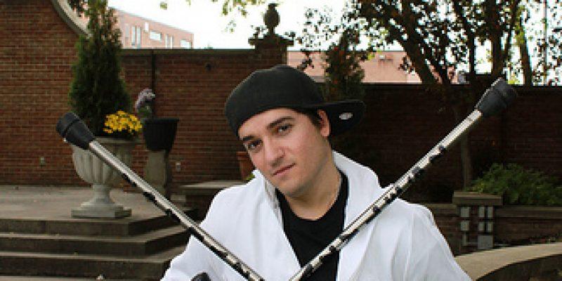 Luca Patuelli bailarín de hip hop y break dance en muletas