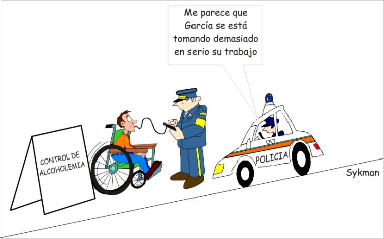 Discapacidad y humor gráfico, exceso de velocidad