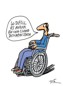 Discapacidad y humor gráfico, vivir en ciudad discapacitada