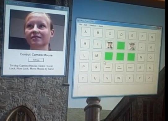 Software para personas con discapacidad Camera Mouse