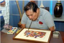 Félix Espinoza pintor sin brazos