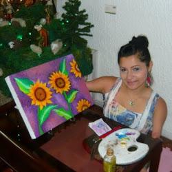 Zuly Sanguino pintora y conferencista motivacional sin brazos ni piernas