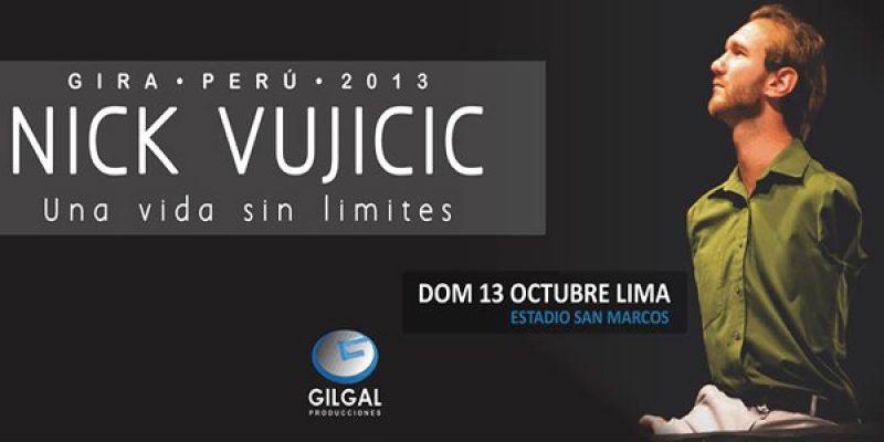 Nick Vujicic en Lima domingo 13 de octubre