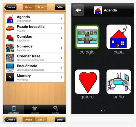 Aplicacion para el aprendizaje de niños autistas y con Sindrome de Down
