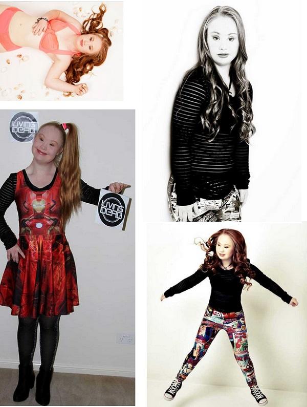 Chica con Sindrome de down quiere ser modelo