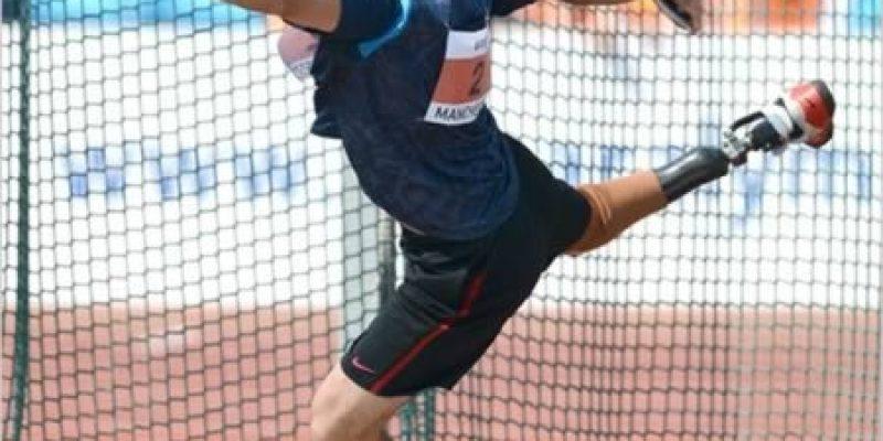Jeremy Campbell el lnzador de disco paralimpico
