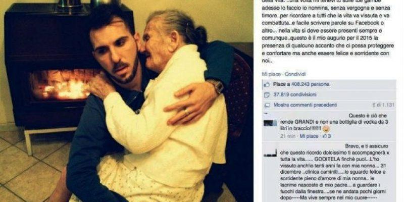 Historia tras foto de joven con su abuela con Alzheimer