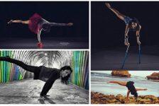 Chica baila breakdance a pesar de faltarte una pierna