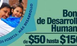Bono de desarrollo humano sube de 50 a 150 dólares