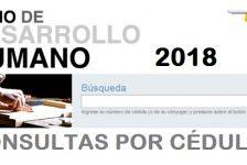 Bono de Desarrollo Humano 2018 consultas por cédula