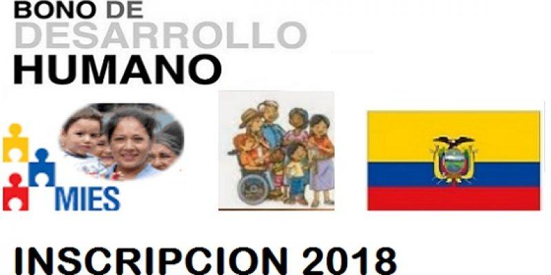 Bono de desarrollo humano 2018 requisitos de inscripción
