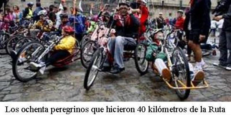Discapacitados de España culminaron con éxito el camino a Santiago