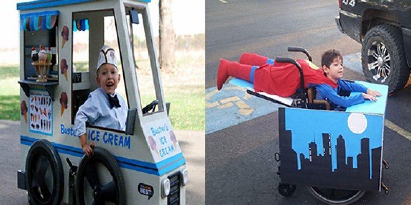 Niños en silla de ruedas y sus divertidos disfraces