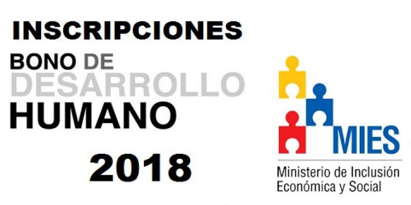 Inscripción para el bono de desarrollo humano 2018