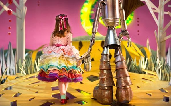 Asi imagina el mundo del Mago de Oz una niña ciega