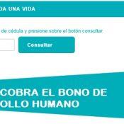 Consulta de pagos del bono de desarrollo humano