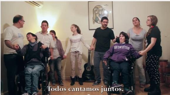 Cancion realizada por jovenes con discapacidad
